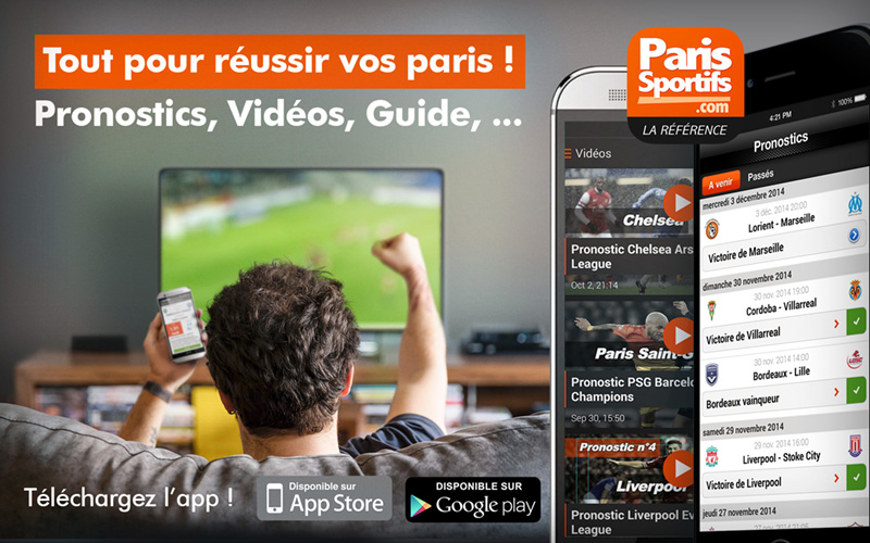 Application Android Parissportifs.com