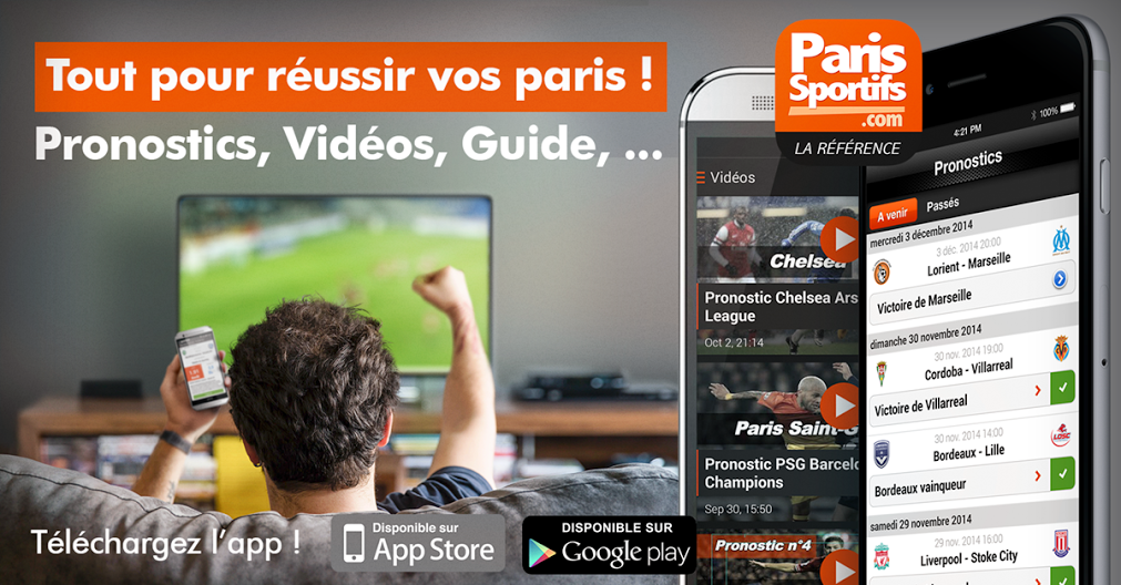 Application iPhone et Android ParisSportifs.com